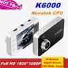 "Original Novatek Chipset HDMI K6000 Car DVR 1080P with G-Sensor Night Vision Car Camera Video Recorder 2.7"" HD LTPS LCD Screen"