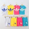 Retail!New summer dress 2014 baby clothing sets boy t shirt+boys shorts baby boys girls clothing sets kids children clothing set