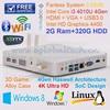 Cheap Computer DHL Free Shipping Raspberry PI PC Intel Core i3 3217U 2GB RAM 320GB HDD Mini ITX Alloy Case HDMI HTPC