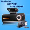 Dual Lens Camcorder Car DVR Camera HD 1080P Dash Cam Black Box With Rear 2 Cam Vehicle View GPS Tracker