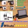 car Parking 2.4G wireless rear view camera 170 degree lens HD CCD backup camera+ 4.3 Inch TFT LCD Mini Car Rearview Monitor