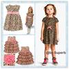 Retail Fashion summer baby girl's leopard print short-sleeve dress cute Children's dresses free shipping Children's clothing