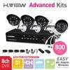 8CH Full D1 HDMI DVR 4 PCS 800TVL IR Outdoor Weatherproof CCTV Camera 24 LEDs Home Security System Surveillance Kits No HDD
