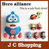 New Hot cartoon super heros usb 2.0 flash memory stick pendrive 8GB/16GB/32GB usb flash drive pen drive