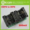 5pcs SOP8 TURN DIP8 WIDE SOP8 to DIP8 Programmer adapter Socket Converter for SOP8 Wide 200mil(Wide) NEW