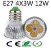 Free shipping 1pcs High Power LED Lamp CREE GU10 E27 E14 MR16 GU5.3 B22 9W 12W 15W LED Bulb Light Spotlight Downlight