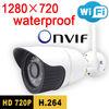 Freeshipping security door ip camera 720p hd waterproof infrared home wireless cctv system outdoor weatherproof onvif wifi cam
