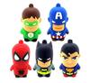 HOT ! Retail wholesale 4GB-32GB Superman Spiderman Batman Captain America USB Flash Drive pen drive memory stick--free shipping