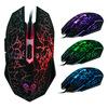 Colorful crack breathing backlight luminous mouse Wrangler cafe USB Optical Mouse Gaming Mouse