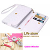 Universal Case Wallet Book CASE Leather Case Mobile Phone Case+Cable winder For Sony Xperia T LT30p LT30i