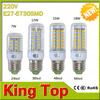 2014 Popular E27 clear mini led corn lamp 24leds 36leds 48leds 56leds bulb light for 7w 12w 15w 18w lighting with CE ROHS 1PCS
