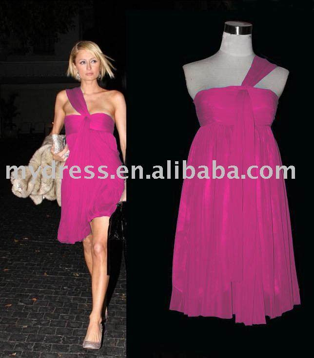 reanazriema: hot pink dress for women