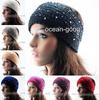 15 colors ! New 2014 Winter ear warmer hairband headwrap knit shine crystal soft headband free shipping