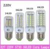 10x Mini E27 Corn Bulb 24 36 56 69 LED 9W 12W 15W 20W 220V SMD 5730 Crystal Chandelier Corn Droplight 360 Degree Spot Light