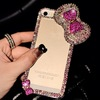Luxury 3D Bow Bling Clear Crystal Diamond Case For iPhone 6 6 Plus 4 4S 5g 5C 5S Rhinestone Case Covers 1 pcs free shipping.