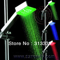 Temperature Control square led shower head + waterpower + internal water generator Spayer Shower Lamp LD8008-A4