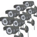 DHL Free Shipping 8pcs 520TVL Sony CCD Waterproof IR Security