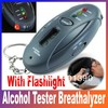 Digital LCD Alcohol Tester Breath tester & timer with flashlight alcohol analyzer Freeshipping
