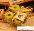 Free Shipping /Green apples candles /simulation fruit / creative gifts / 4PCS