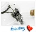 Free shipping Retail brass retro owls chains owl pendant fashion necklace vintage bracelets 12pc ...