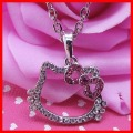 Free Shipping Wholesale Lovely Hello Kitty Necklace, Hello Kitty Pendant- Paypal accept!!