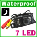 Free Shipping New Wholesale 7 IR LED Night Vision Car Rear View Waterproof Camera N11