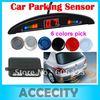 C18 12V Car Color LED Display Indicator Reverse Backup Radar Kit 4 Parking Sensor System