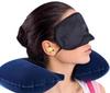 Wholesale Three tourists treasures set products Travel U shape Pillow+eyeshade+earplug Neck Rest Inflatable Airplane car cushion