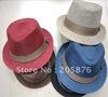 Latest Solid Color Baby Kids Fedora Hats Children Cowboy Caps Top Hat Toddler Jazz Cap Headgear 10pcs/lot freeshipping MZ-0182