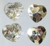 NB025 Crystal buttons 30pcs 25mm heart shape transparent silver back two holes buttons clothes sewing buttons
