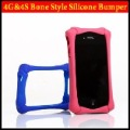 Brand New Silicone Case For iPhone 4 4S,Bone Style Free Shipping Retail Package