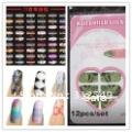 Free shipping 12pcs/set 122designs available New Trendy Nail Polish strips