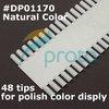 10PCS Natural nail art display Chart Color display wheel Nail Polish Display 40 Colors Wholesales F0031X