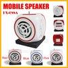 New Real Fm Radio Mini Mobile Speaker Mp3 Player Sd/mmc Reader+fm Radio Usb Boombox Portable Sound Box for Cellphone Pc Hx-688a