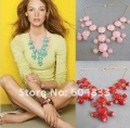 New Women resin gem Bubble Bib Statement Fashion Necklace 12Pcs lot mix color hot sale