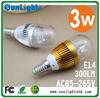 Top quality bulb E14/E12/ E27 fiting 3W warm / cold white LED candle light corn lamp AC85-265V DHL Fedex