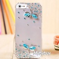 3D Dragonfly Bling Diamond Rhinestone Case For iPhone 5 5S.
