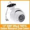 free shipping!! Waterproof Outdoor Surveillance 1/3Sony 700tvl Efiio-e Zoom Camera Security OSD