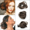 hair bun scrunchie, Fashion Hair Bun Scrunchie Extension, Dark Brown, Synthetic Fiber, Sold individually, 15x6cm ,HA0036-4