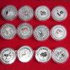 Zodiac AG.999 30G SILVER PLATED COINS 12 pieces/set XUBEIHONG