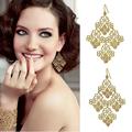 Fashion accessories gold plated cutout bohemia elegant Women earrings Factory Wholesale