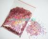Free Shipping-50g/bag Laser Rose Pink Dazzling Diamond Glitter Paillette Spangles Shape for DIY Nail Art Decoration-Wholesales