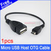 1pcs Micro USB Host OTG Cable Kit Adapter 10cm mini for tablet pc mobile phone