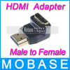 Brand New HDMI Adapter Turned 90 Degrees Converter Male to Female for HDMI Cable HDTV TV Box Dongle Stick