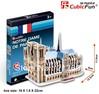 3D puzzle NOTRE DAME DE PARIS building model small size , educational DIY toys, free shipping.