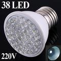 1.9W 220V E27 38 leds White LED light ultra bright led Bulb Lamp energy saving led lighting free shipping Wholesale