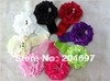 6pcs Baby Girls Toddler Infant Crochet Stretch Headbands + 6pcs New Shaped Peony Flower Clip Headwear kid's Hair Accessories