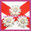 200pcs/lot 33mm PINBACK Pearl&Rhinestone Pins ,Crystal Pearl Rhinestones ,Wedding Bridal Rhinestone PIN ,Invitation Pin