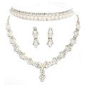 Free shipping luxurious pearl bridal jewelry sets hotsale cheap jewelry wedding accessory