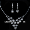 Cheap!!factory price crystal pearl bridal jewelry sets cheap jewelry wedding pearl sets accessory
